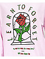 Learn To Forget Stained Rose Pink Long Sleeve T-Shirt