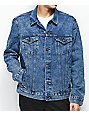 Levi's The Trucker Blue Powder Acid Wash Denim Jacket