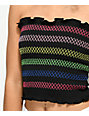 Lunachix Black Stripe Smocked Tube Top