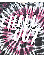 Lunachix Chill Out Burgundy Tie Dye T-Shirt
