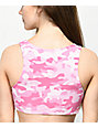 Lunachix Hot Pink Camo Sports Bra