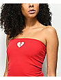 Lunachix Nivea Heartbreaker Red Tube Top