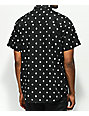 Lurking Class by Sketchy Tank Chaos Print Black Short Sleeve Button Up Shirt