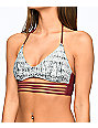 Malibu Gypsy Queen Burgundy & Grey Bralette Bikini Top