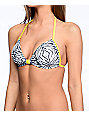 Malibu The Dive Tie Dye Molded Halter Bikini Top