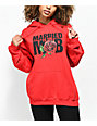 Married To The Mob Rose Red Hoodie