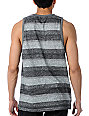 Matix Knit-Knat Grey & Black Stripe Knit Tank Top
