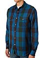 Matix Marc Johnson Degree Blue & Green Plaid Woven Shirt