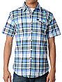 Matix Vickers Blue Plaid Woven Shirt