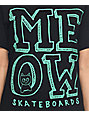 Meow Skateboards Stacked Logo Black T-Shirt