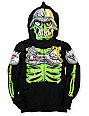 Metal Mulisha Boys Eyegore Black Full Zip Face Mask Hoodie