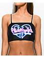Motel Kye Heart Breaker Black Bikini Top