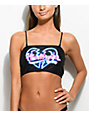 Motel Kye Heart Breaker top de bikini negro