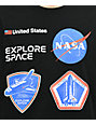 NASA Patches Black T-Shirt