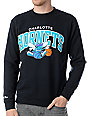 NBA Mitchell and Ness Charlotte Hornets Arch Crew Neck Sweatshirt