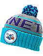 NBA Mitchell and Ness Charlotte Hornets Pom Beanie