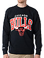 NBA Mitchell and Ness Chicago Bull Arch Crew Neck Sweatshirt