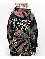 NEW girl ORDER Skeleton Black, Green & Pink Tie Dye Hoodie