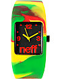 Neff Bandit Rasta Swirl Wristband Analog Watch