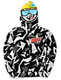 Neff Boys Retro Grey & Black Full Zip Face Mask Hoodie