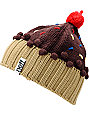 Neff Chocolate Dark Brown Cupcake Beanie