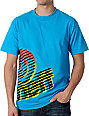 Neff Clutter Turquoise T-Shirt