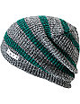 Neff Daily Grey & Green Striped Beanie
