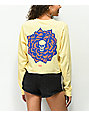 Never Made Death Lotus Banana Crop Long Sleeve T-Shirt