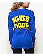 Never Made Projects Blue Long Sleeve T-Shirt