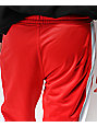 Ninth Hall Korberg Red & White Track Pants