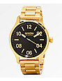 Nixon Patrol Gold & Black Analog Watch