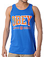 Obey Athletics Blue & Orange Tank Top