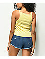 Obey Ava New World Yellow Crop Tank Top