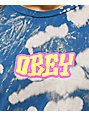 Obey Better Days Blue Bleach T-Shirt