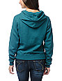 Obey College Crest Teal Pullover Hoodie