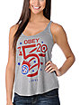 Obey Comet Mock Twist Grey Tank Top
