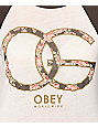 Obey Emporium Natural & Charcoal Vintage Baseball Tee