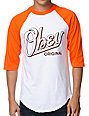 Obey Encore Orange & White Baseball T-Shirt