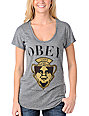Obey Genuine Article Heather Black T-Shirt