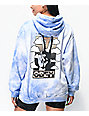 Obey Give Peace A Chance Blue Tie Dye Hoodie
