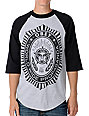 Obey Legion Heather Grey Baseball T-Shirt