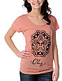 Obey Local Stencil Mock Dolman Red T-Shirt