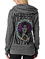 Obey Make Art Not War Embroidered Grey Hoodie