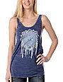 Obey Peace Navy Burnout Tank Top