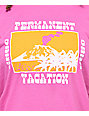 Obey Permanent Vacation Vintage Magenta T-Shirt