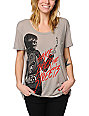 Obey Punker Chick Grey Throwback T-Shirt