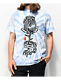 Obey Rose Shackle camiseta tie dye azul