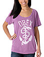 Obey Serpent  & Anchor Berry T-Shirt