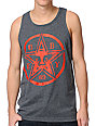 Obey Star Stencil Charcoal Grey Tank Top