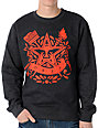 Obey Star Torch Charcoal Crew Neck Sweatshirt